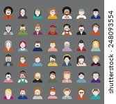 people diversity portrait... | Shutterstock .eps vector #248093554
