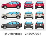 vector off road car   side  ... | Shutterstock .eps vector #248097034