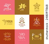logos and icons set for yoga... | Shutterstock .eps vector #248097868