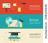 education distance  online and... | Shutterstock .eps vector #248104648