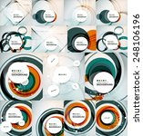 set of color circles... | Shutterstock .eps vector #248106196