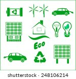 vector set of advertising eco... | Shutterstock .eps vector #248106214
