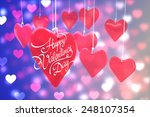 happy valentines day against... | Shutterstock . vector #248107354