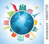 travel around the world  | Shutterstock .eps vector #248107729
