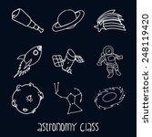 astronomy class design  vector... | Shutterstock .eps vector #248119420