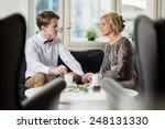 boyfriend declaring... | Shutterstock . vector #248131330