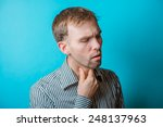 Small photo of Man With Sore Throat