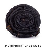 Black Roll Jeans Isolated On...