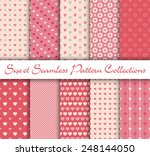 sweet seamless pattern theme... | Shutterstock .eps vector #248144050