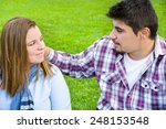 young couple in park | Shutterstock . vector #248153548