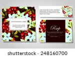 set of invitations with floral... | Shutterstock .eps vector #248160700