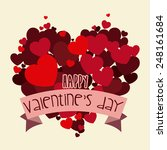 happy valentines day design ... | Shutterstock .eps vector #248161684