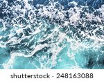Top View On Sea Waves