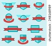 vector set of crests badges...   Shutterstock .eps vector #248168989