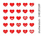 collection of different emoji... | Shutterstock .eps vector #248185189