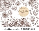 top view coffee shop table.... | Shutterstock .eps vector #248188549