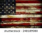 Closeup Of American Flag On...
