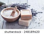 natural soap  lavender  salt on ...   Shutterstock . vector #248189620