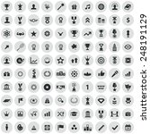 100 award icons  black on... | Shutterstock . vector #248191129