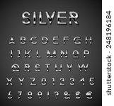 silver alphabet set   Shutterstock .eps vector #248196184