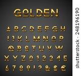 golden alphabet set | Shutterstock .eps vector #248196190