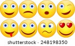set of smile | Shutterstock .eps vector #248198350
