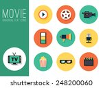 movie film  cinema. illustrated ... | Shutterstock .eps vector #248200060