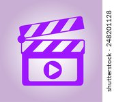 film maker clapper board  icon. ... | Shutterstock .eps vector #248201128