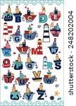 nautical letters | Shutterstock .eps vector #248202004