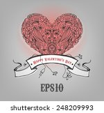 beautiful vintage heart. give... | Shutterstock .eps vector #248209993