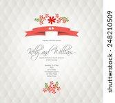 wedding invitation card | Shutterstock .eps vector #248210509