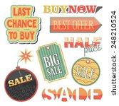 set of sale vector labels | Shutterstock .eps vector #248210524