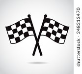 racing flags. vector... | Shutterstock .eps vector #248213470