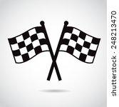racing flags. vector... | Shutterstock .eps vector #248213470