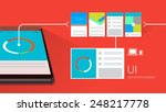 user interface design with... | Shutterstock .eps vector #248217778