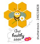 cute smiling bee siting in a... | Shutterstock .eps vector #248218828