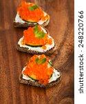 heart shaped toasts appetizer... | Shutterstock . vector #248220766