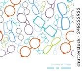 vector colorful glasses... | Shutterstock .eps vector #248233933