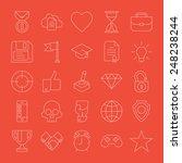 vector modern simple extra thin ... | Shutterstock .eps vector #248238244