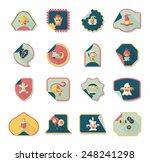 halloween sticker banner flat... | Shutterstock .eps vector #248241298