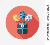 birthday presents flat icon...   Shutterstock .eps vector #248241826