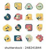 baby sticker banner design flat ...
