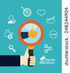 social advertising design ... | Shutterstock .eps vector #248244904