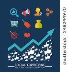 social advertising design ... | Shutterstock .eps vector #248244970