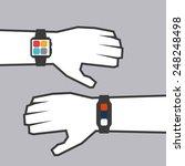 smart watch design  vector... | Shutterstock .eps vector #248248498