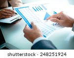 business people discussing the... | Shutterstock . vector #248251924