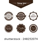 label vector set with brown... | Shutterstock .eps vector #248252074