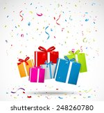 celebration background with... | Shutterstock .eps vector #248260780