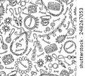 vector seamless pattern with...   Shutterstock .eps vector #248267053