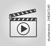 the clapper board icon. play... | Shutterstock .eps vector #248267140
